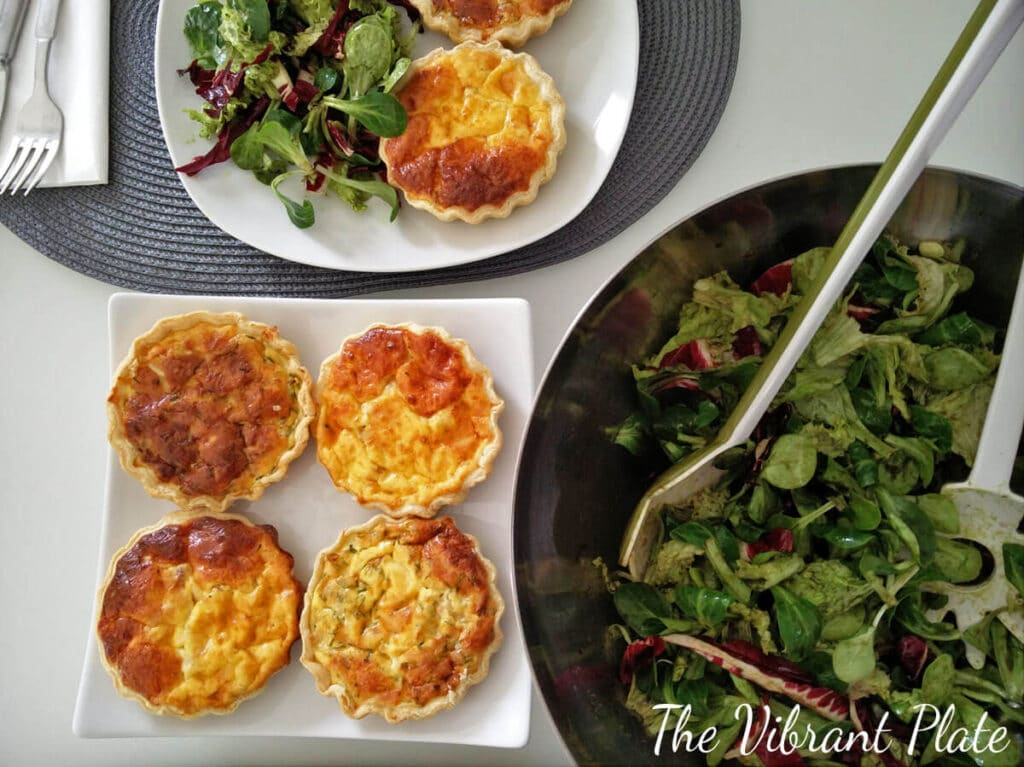 Cheese Tarts with Onions and Bacon