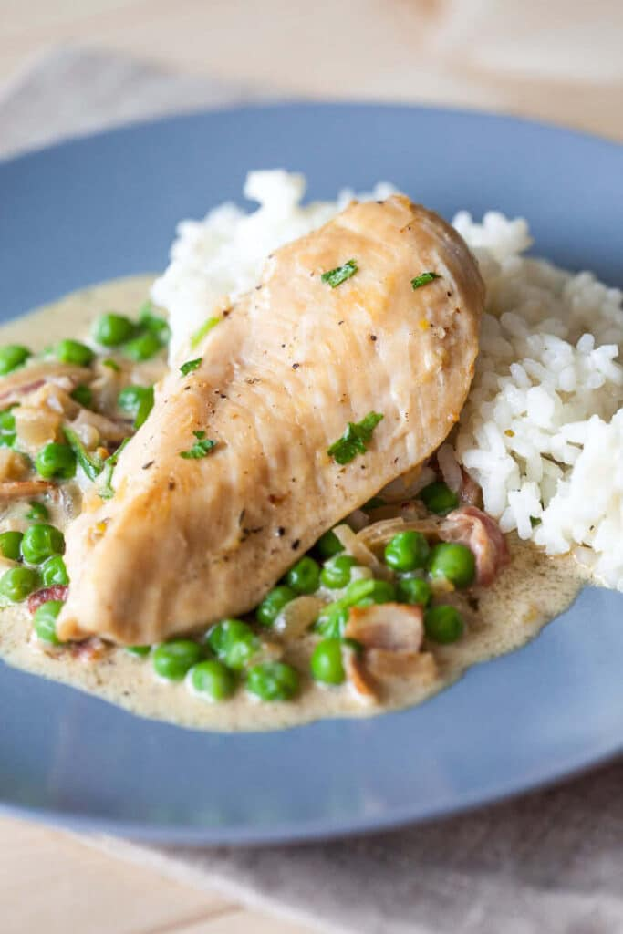 Chicken with Peas and Bacon