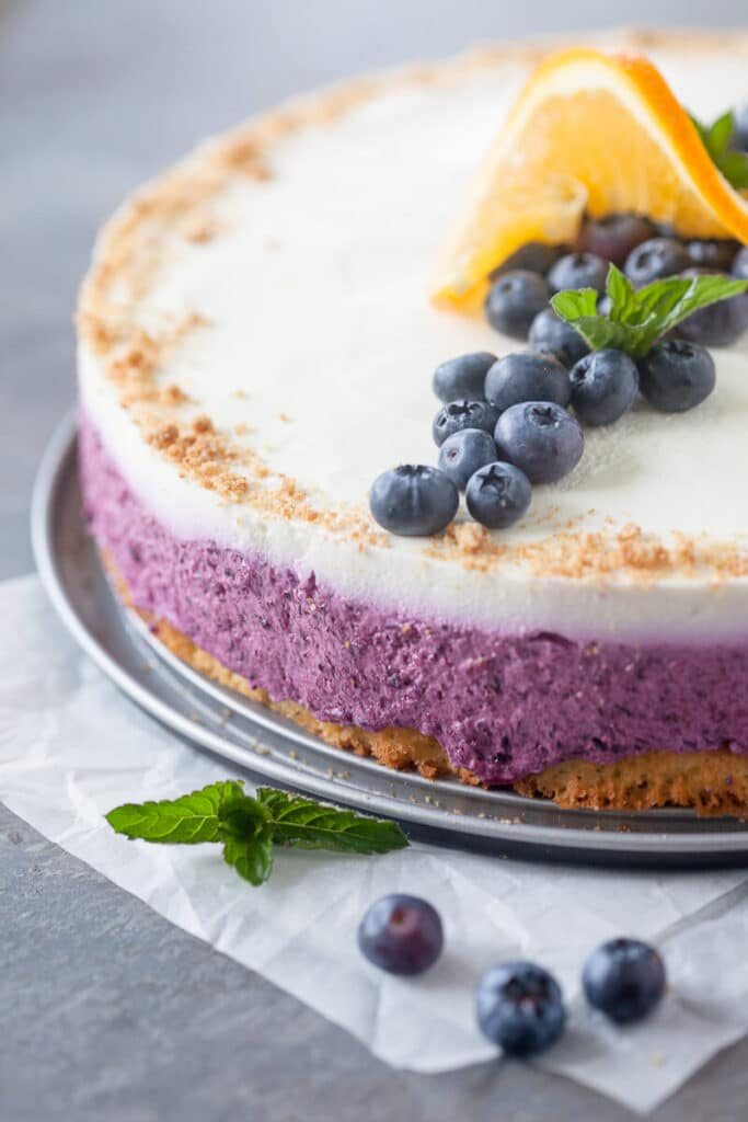 The mighty Blueberry Cake with Quark Cream is the favorite one in our household and an absolute must every September. | www.vibrantplate.com