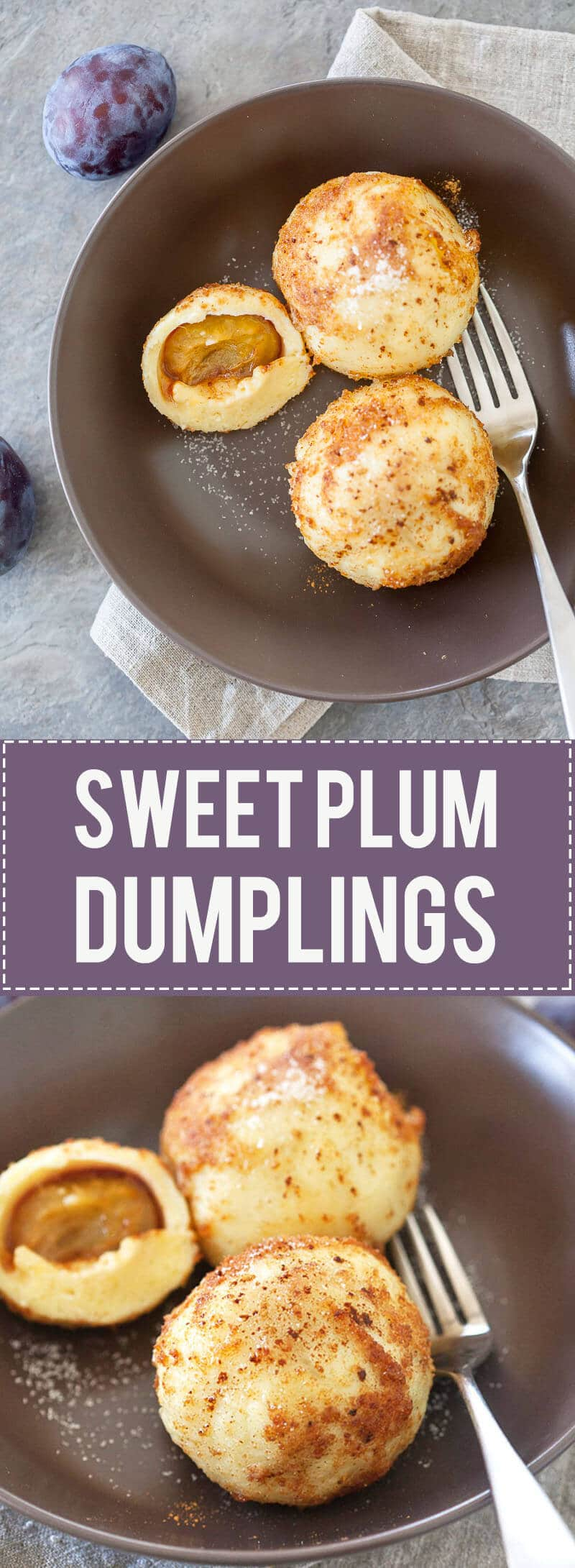 Plums come in all shapes and sizes, but our fave is the Damsons with their rich flavor. We turned them into these Delicious Sweet Dumplings with Plums.