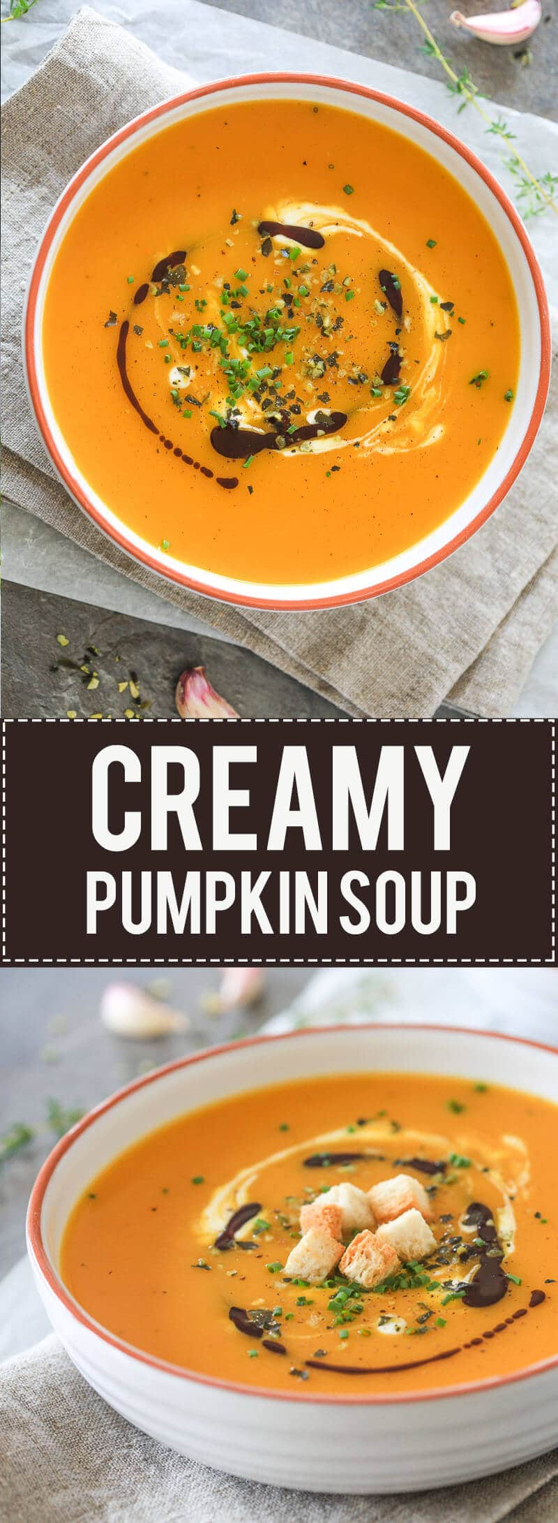 Nothing says Autumn more than a bowl of steamy & delicious pumpkin soup. Made from Red Kuri squash in just 15 minutes!