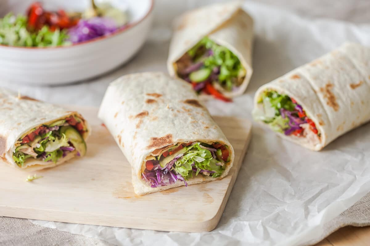 Easy Grilled Veggies Tortilla Wraps Vibrant Plate