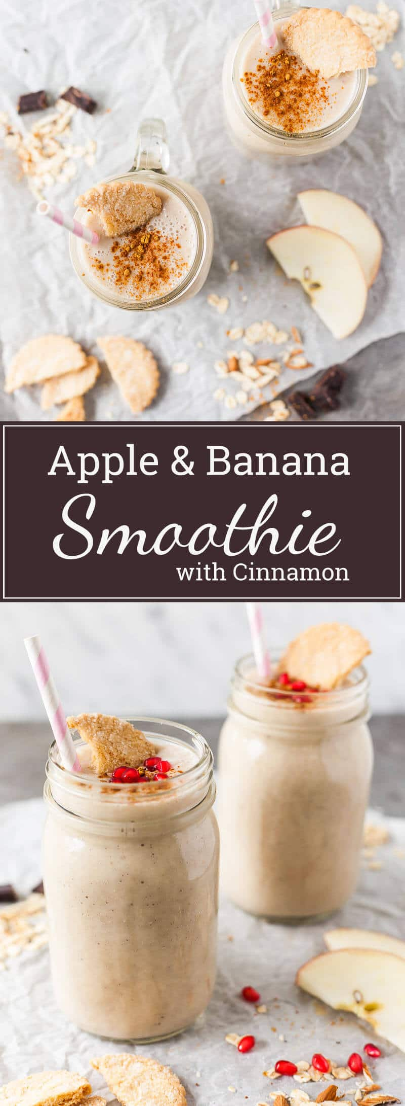 This simple Apple Banana Smoothie is delicious, nutritious and super easy to make. Just place everything in your blender, blend and … done!