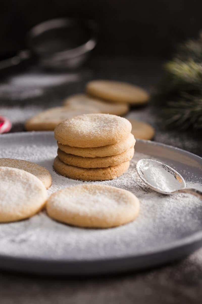 Try these amazing Egg-Free Almond Sugar Cookies! Just a couple of ingredients, but tons of flavour! | www.vibrantplate.com