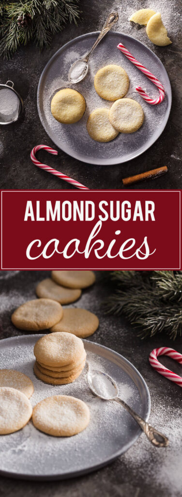 Try these amazing Egg-Free Almond Sugar Cookies! Just a couple of ingredients, but tons of flavour!