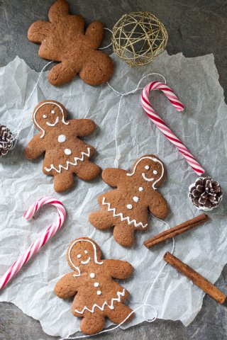Gingerbread Cookies will infuse your home with the smell of Christmas. Just a couple of ingredients and a couple of minutes to make! | www.vibrantplate.com