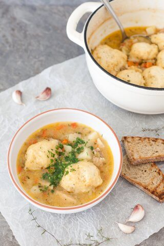 Chicken Stew with Fluffy Dumplings