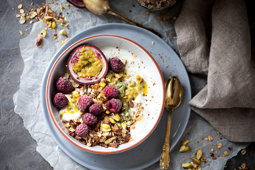 Raspberry & Passion Fruit Greek Yogurt Granola
