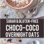 Sugar-free Choco-Coco Overnight Oats | www.vibrantplate.com