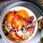 These Vegan Blood Orange Overnight Oats are an easy weekday breakfast that will keep you full and healthy. | www.vibrantplate.com