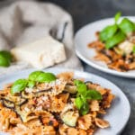 This Eggplant Pomodoro Pasta is an easy pasta recipe that takes little effort or time. Perfect for a midweek dinner! | www.vibrantplate.com