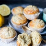 These Lemon Poppy Seed Muffins look simple but pack plenty of flavors, plus they are fluffy, light and delicious. Great for a quick breakfast to-go! | www.vibrantplate.com