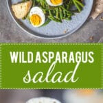 Wild Asparagus Salad is a spring favorite! Head into the woods to forage your dinner. | www.vibrantplate.com
