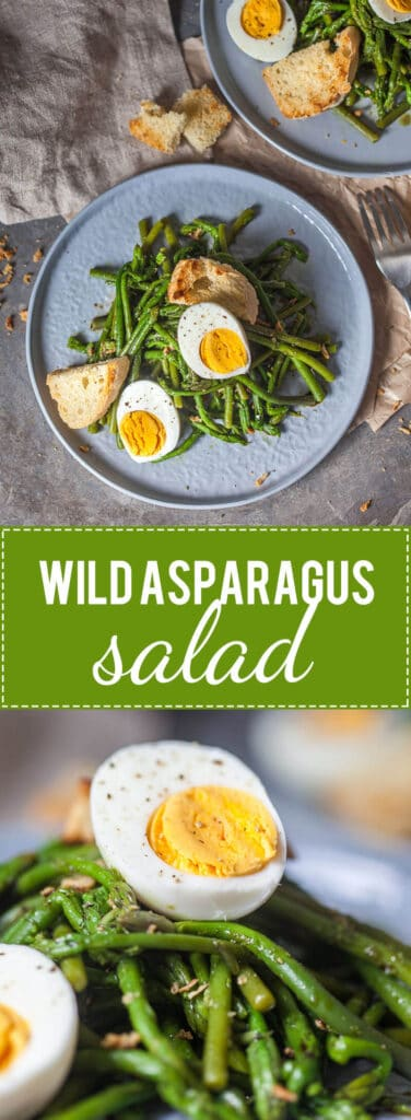 Wild Asparagus Salad is a spring favorite! Head into the woods to forage your dinner.   www.vibrantplate.com