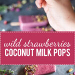 These Wild Strawberries Coconut Milk Popsicles are light, delicious and a real summer treat. Vegan and gluten-free! | www.vibrantplate.com