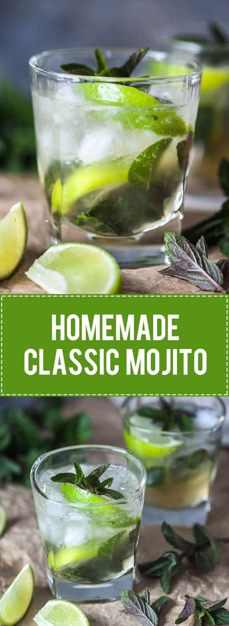 This Homemade Classic Mojito is a refreshing drink enjoyed best in a hot summer eve. | www.vibrantplate.com