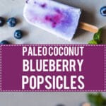 Coconut Blueberry Popsicles are a natural version of the colorful Galaxy Pops! Paleo, Vegan & Gluten-free. | www.vibrantplate.com