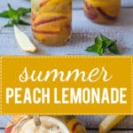 Summer Peach Lemonade has no added sugars and is the perfect drink to keep you cool this summer. | www.vibrantplate.com