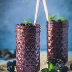 A Quick and Healthy drink, this Blackberry Kale Smoothie is packed full of vitamins and antioxidants, dairy-free and vegan! | www.vibrantplate.com