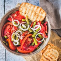 Italian Green Beans Tomato Salad {Vegan}