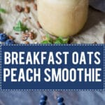 This Breakfast Oats Peach Smoothie is quick and easy to make. Perfect for a healthy summer breakfast! | www.vibrantplate.com
