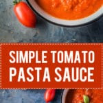 This simple Tomato Pasta Sauce is the perfect base for all your tomato recipes. Gluten-free and Vegan! | www.vibrantplate.com