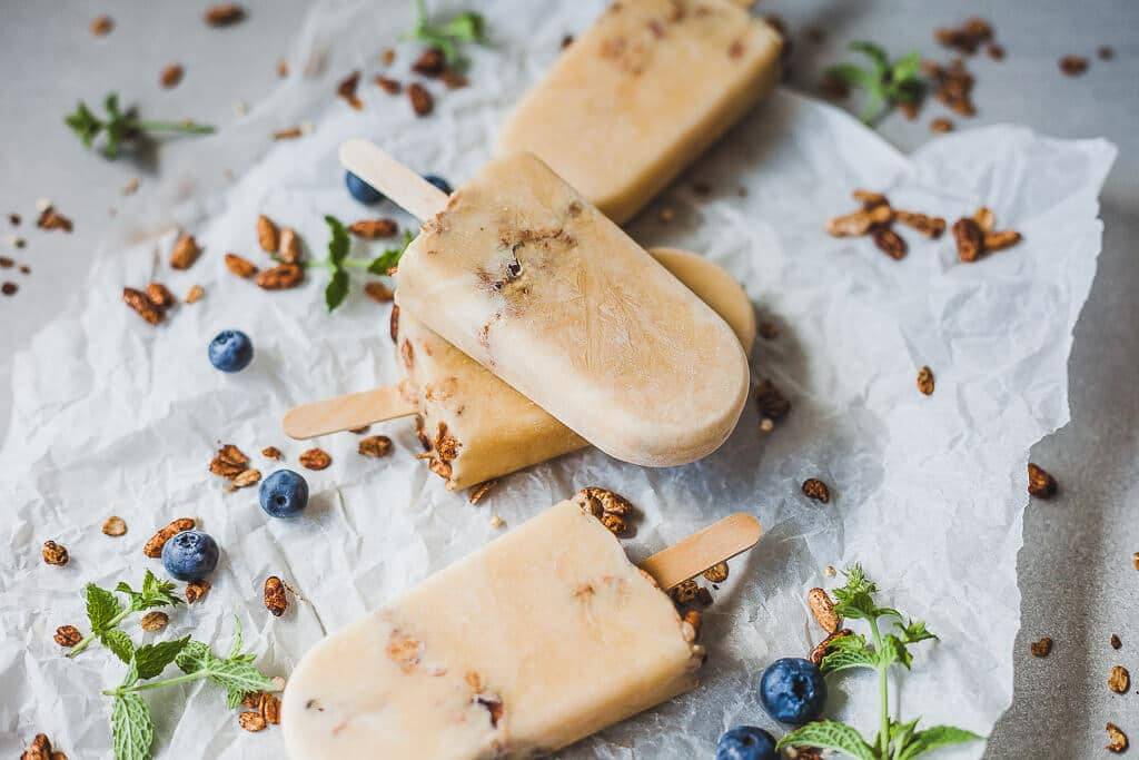 Vegan Oats Peach Smoothie Popsicles