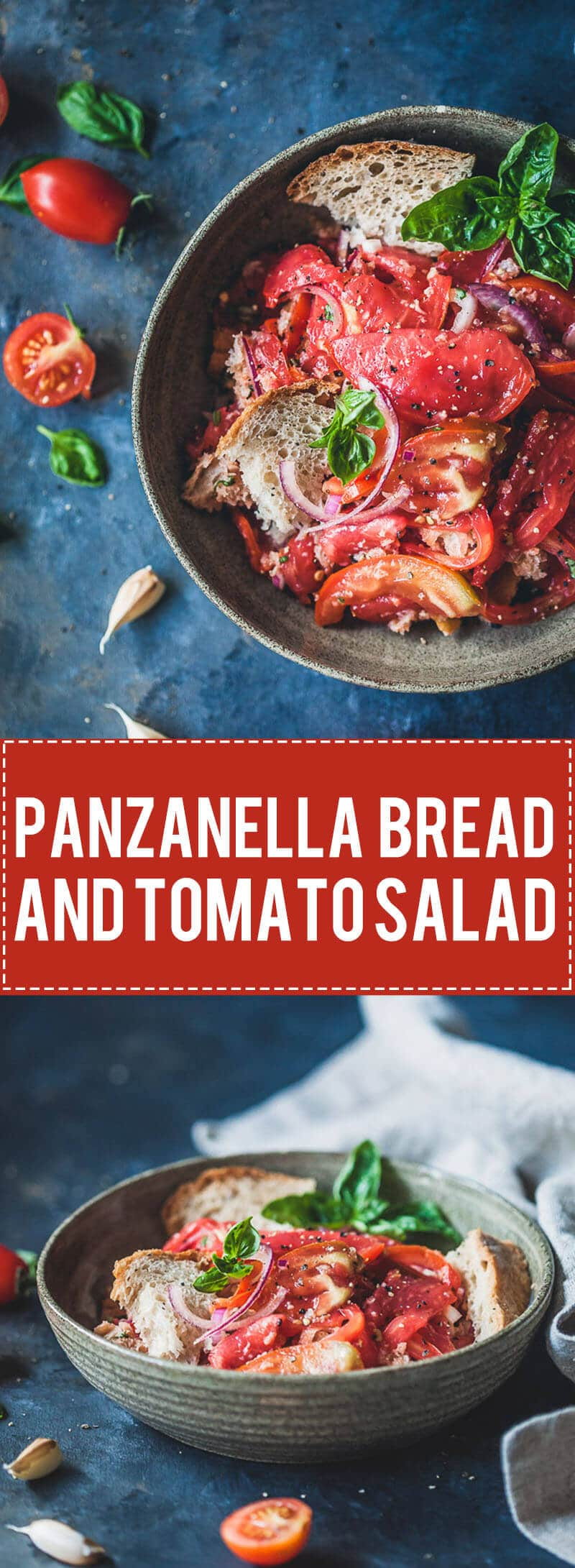 A delicious Bread and Tomato Salad, Panzanella is a great dish to use up stale bread and ripe tomatoes.