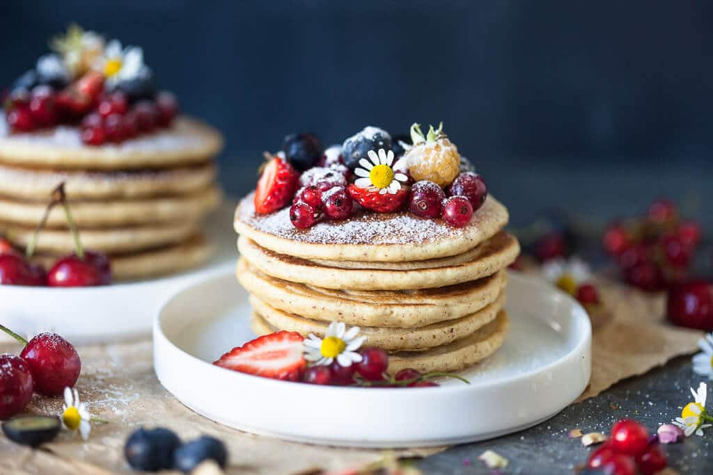 The Softest Almond Oats Pancakes {Dairy-Free}