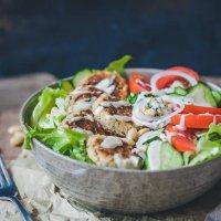 Leftover Falafel Salad