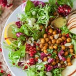 The Ultimate Fall Abundance Endive Salad is topped with Crispy Chickpeas, Apples & Mustard Vinaigrette. Vegan and Gluten-Free! | Vibrant Plate
