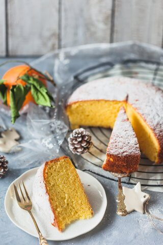 A simple and delicious dairy-free Olive Oil Orange Cake is light and fluffy with a strong orange flavor. | Vibrant Plate