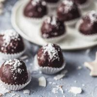 Dark Chocolate Coconut Truffles {Vegan}