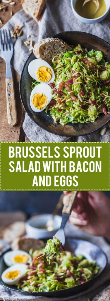 Not your standard salad, this Brussels Sprout Salad with Bacon and Eggs is a fresh take on the humble vegetable.   Vibrant Plate