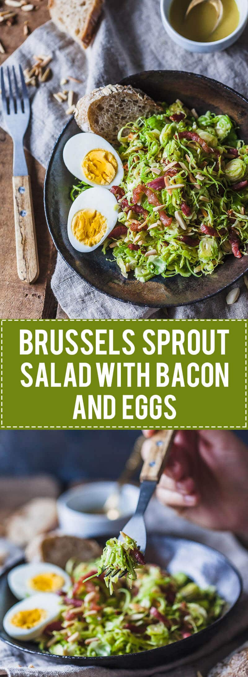 Not your standard salad, this Brussels Sprout Salad with Bacon and Eggs is a fresh take on the humble vegetable.