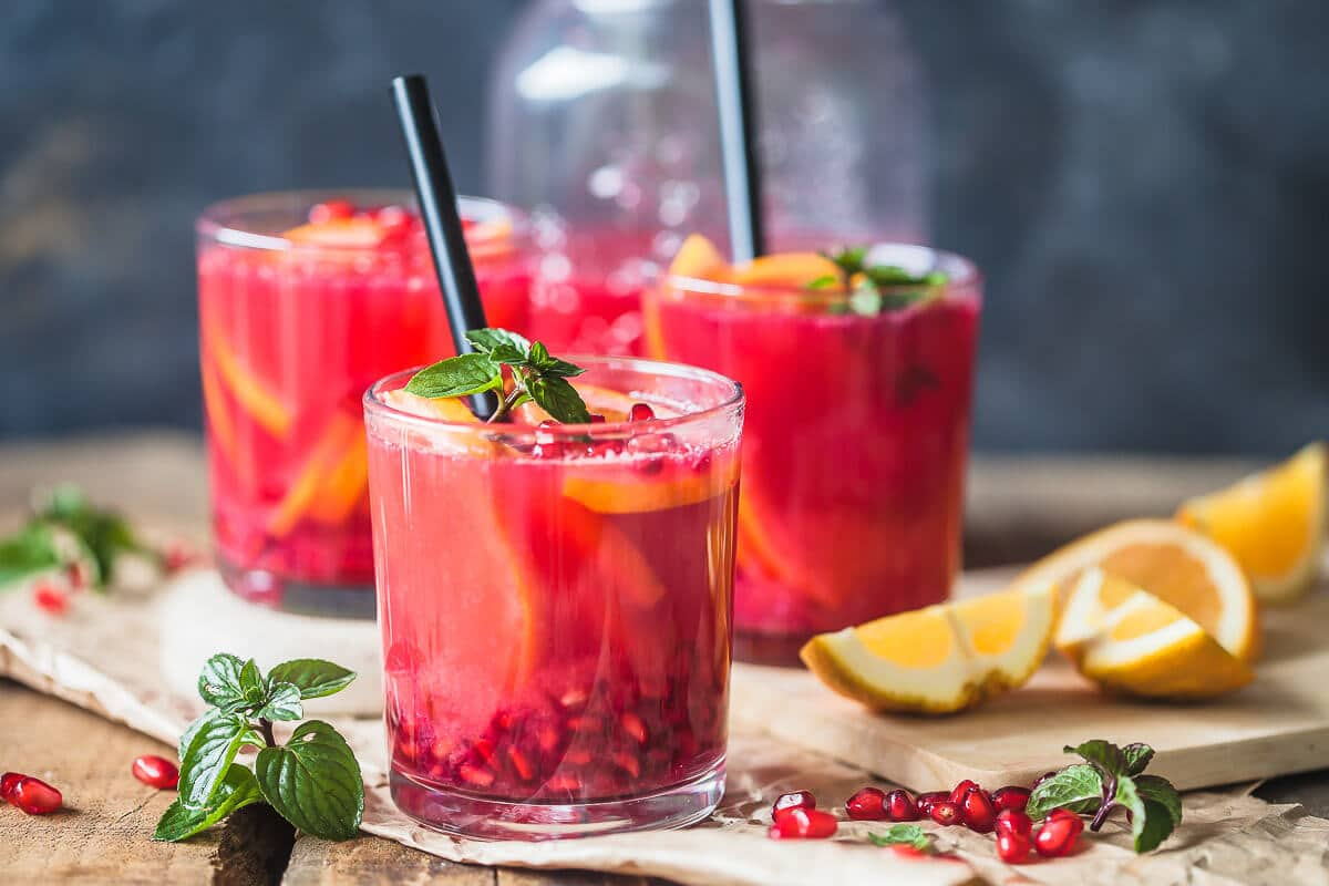 Antioxidant Orange Pomegranate Juice
