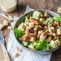Easy Chicken Caesar Salad with Worry-Free Dressing