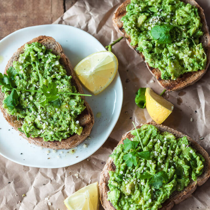 Basic Avocado Toast is a healthy and filling vegan breakfast ready in just 5 minutes! | Vibrant Plate