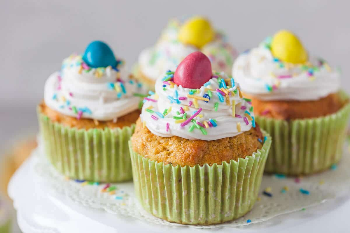 Carrot Cake Cupcakes {Dairy-Free}