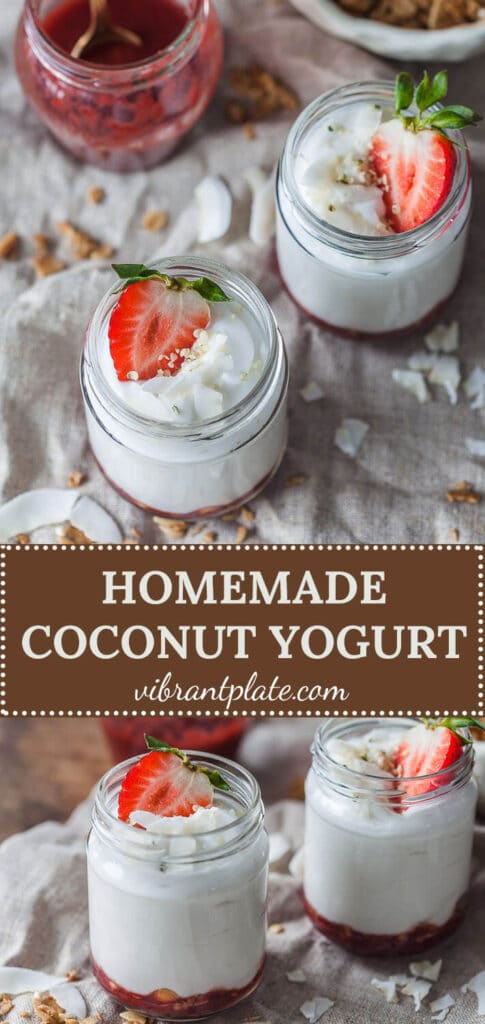 Homemade Coconut Yogurt is a great dairy-free plant-based alternative. Gluten-free, vegan and low carb! | Vibrant Plate
