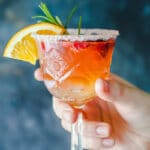 An excellent brunch drink, this Orange Raspberry Mimosa Cocktail is the perfect fit to celebrate the arrival of spring!   Vibrant Plate