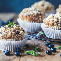 Yogurt Blueberry Breakfast Muffins