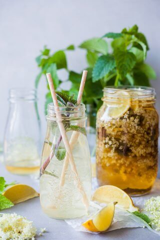 Homemade Elderflower Cordial is a refreshing summer drink that is super easy to make and uses less sugar. | Vibrant Plate