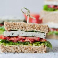 Basil Tomato Tofu Sandwich {Vegan}