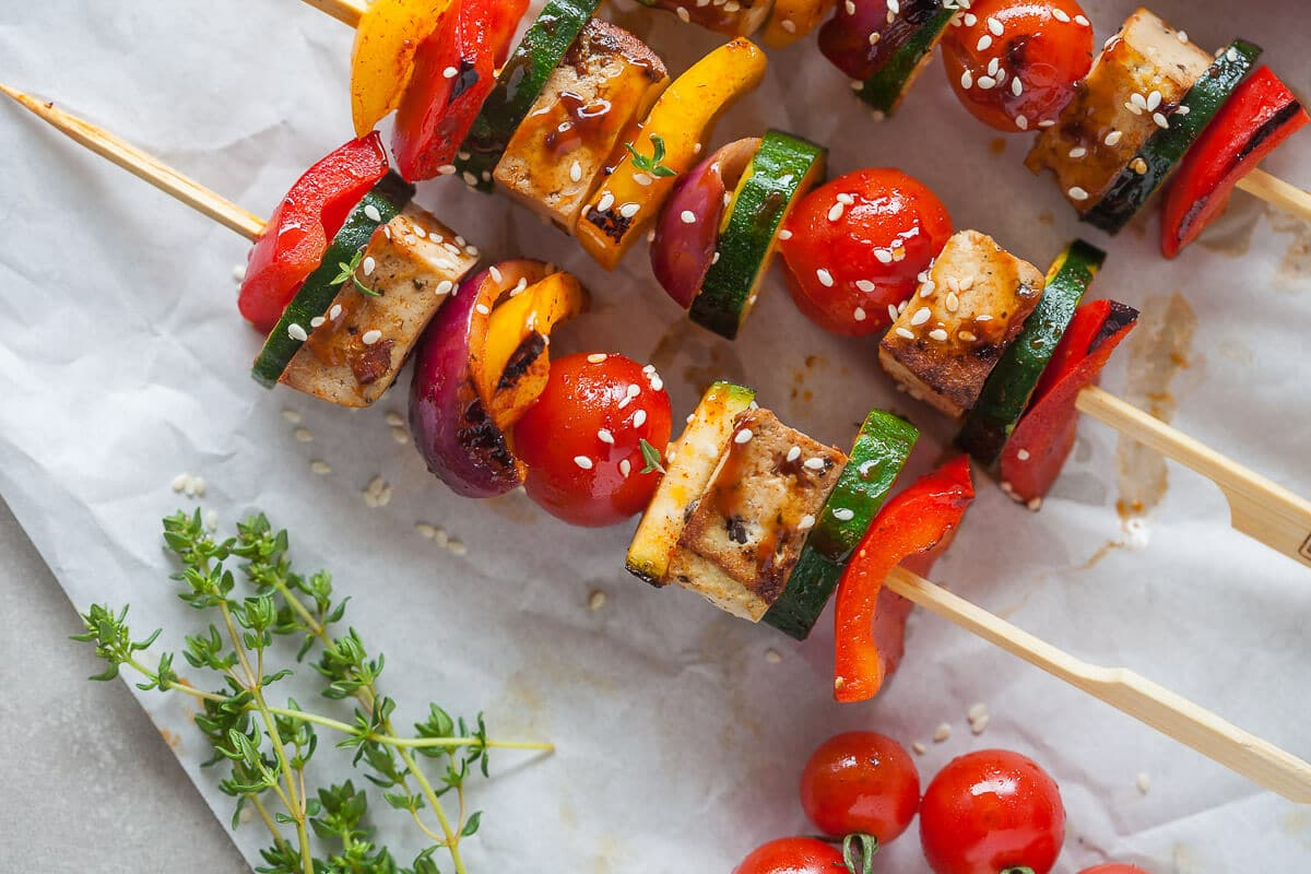 Vegan Grilled Tofu Skewers {Low-Carb}