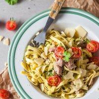 15-minute Zucchini Tuna Egg Noodles