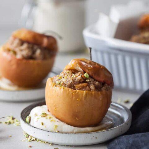 Vegan Cinnamon Baked Apples Vibrant Plate