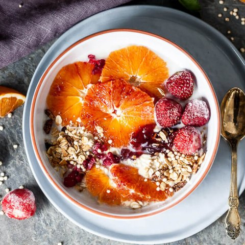 Vegan Blood Orange Overnight Oats