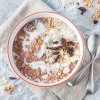 Sugar-Free Choco-Coco Overnight Oats
