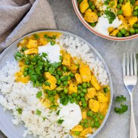 Easy Chicken Curry with Fluffy Rice